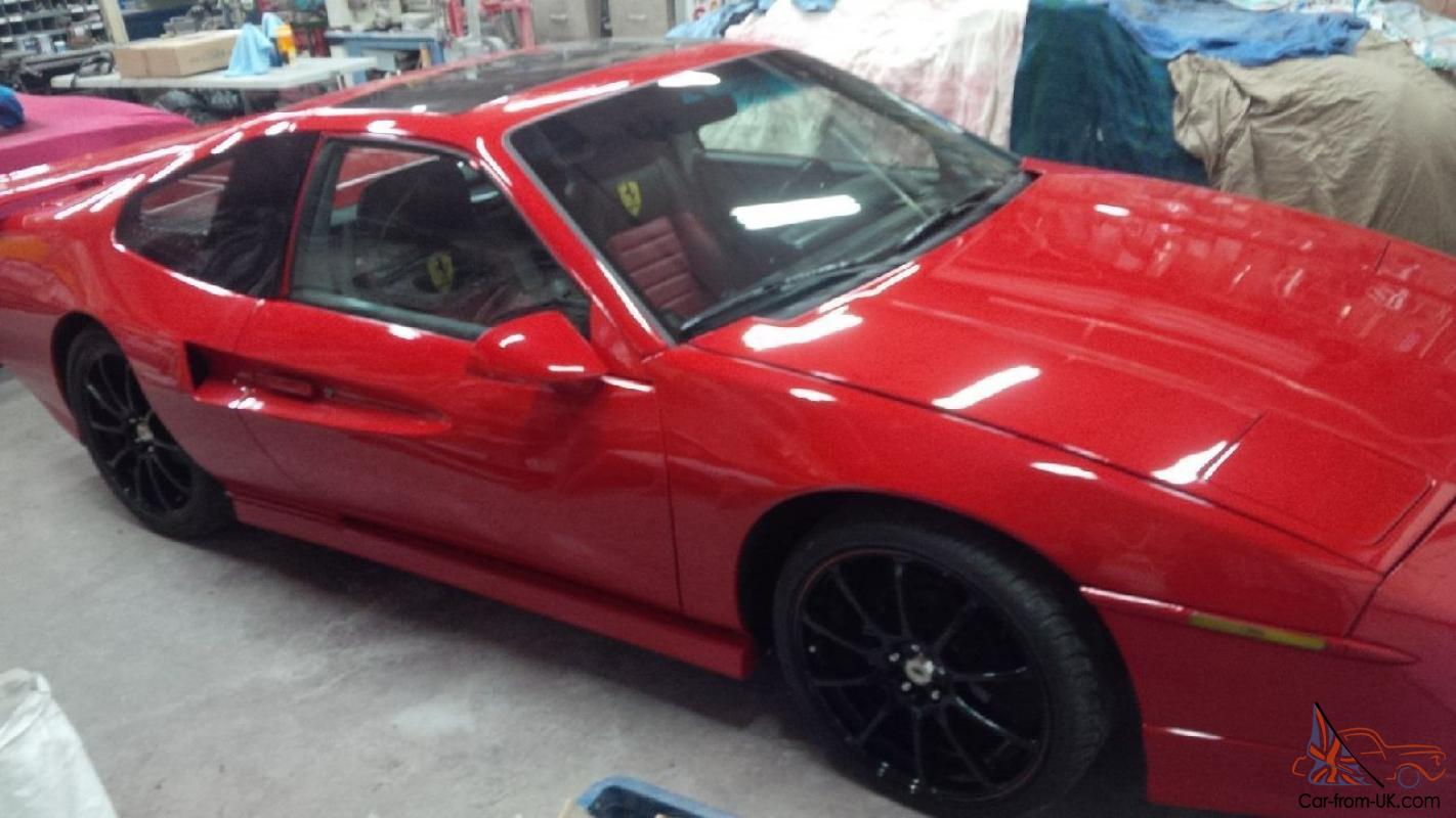 Replica Kit Makes Fiero Gt With A Little Ferrari 308 Sun Roof Pontiac Oil Pan