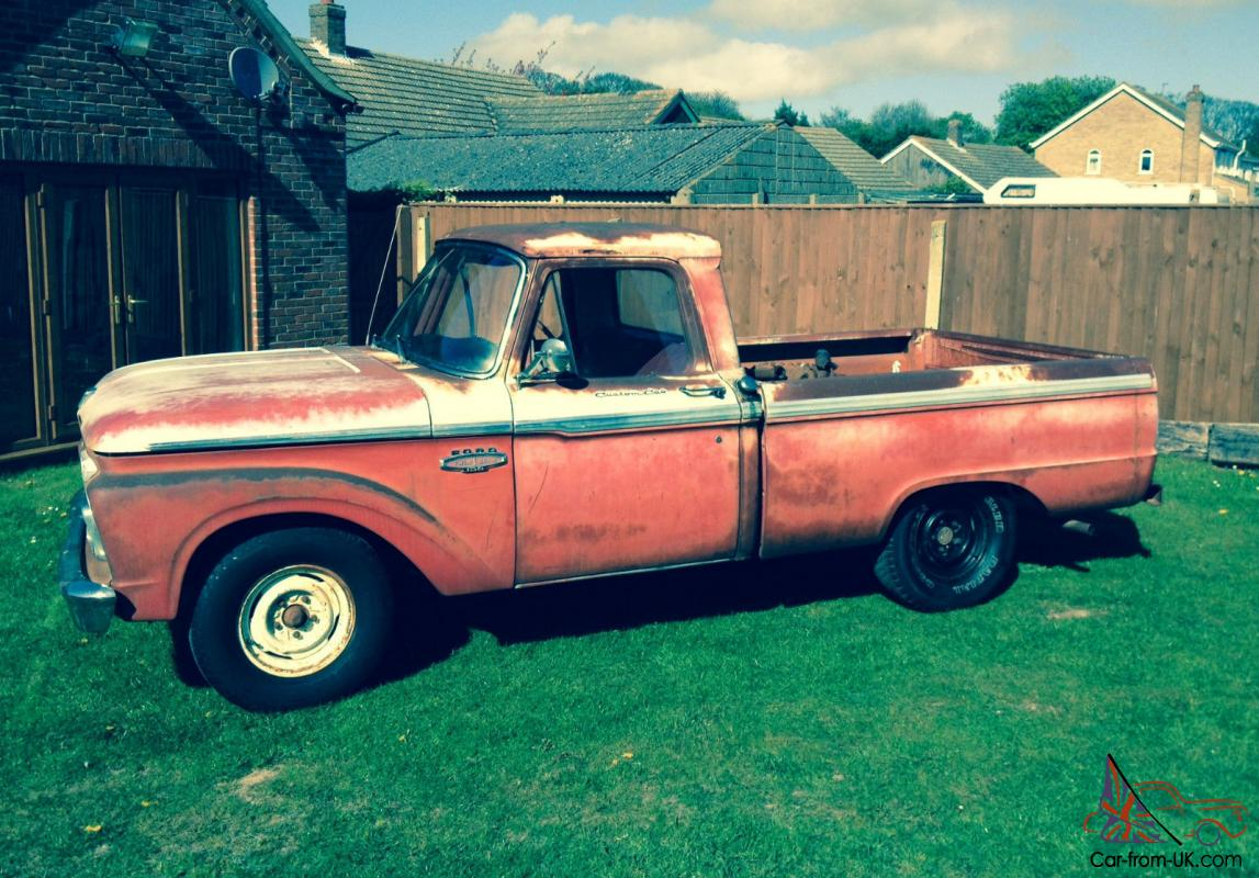 1966 Ford F100 Dry State Tx From New S Matching 352 V8 With