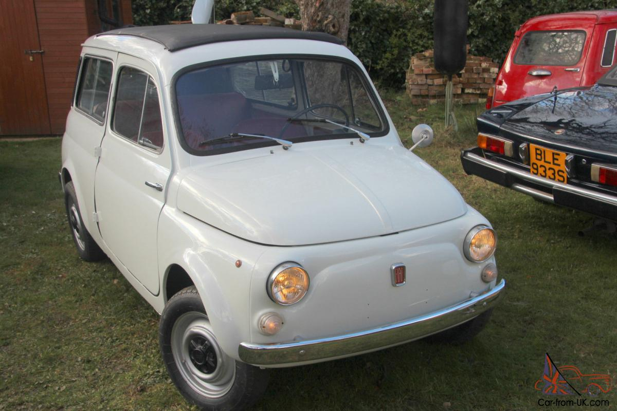 Fiat 500 Giardiniera 1971 With Suicide Doors Full Length Sunroof