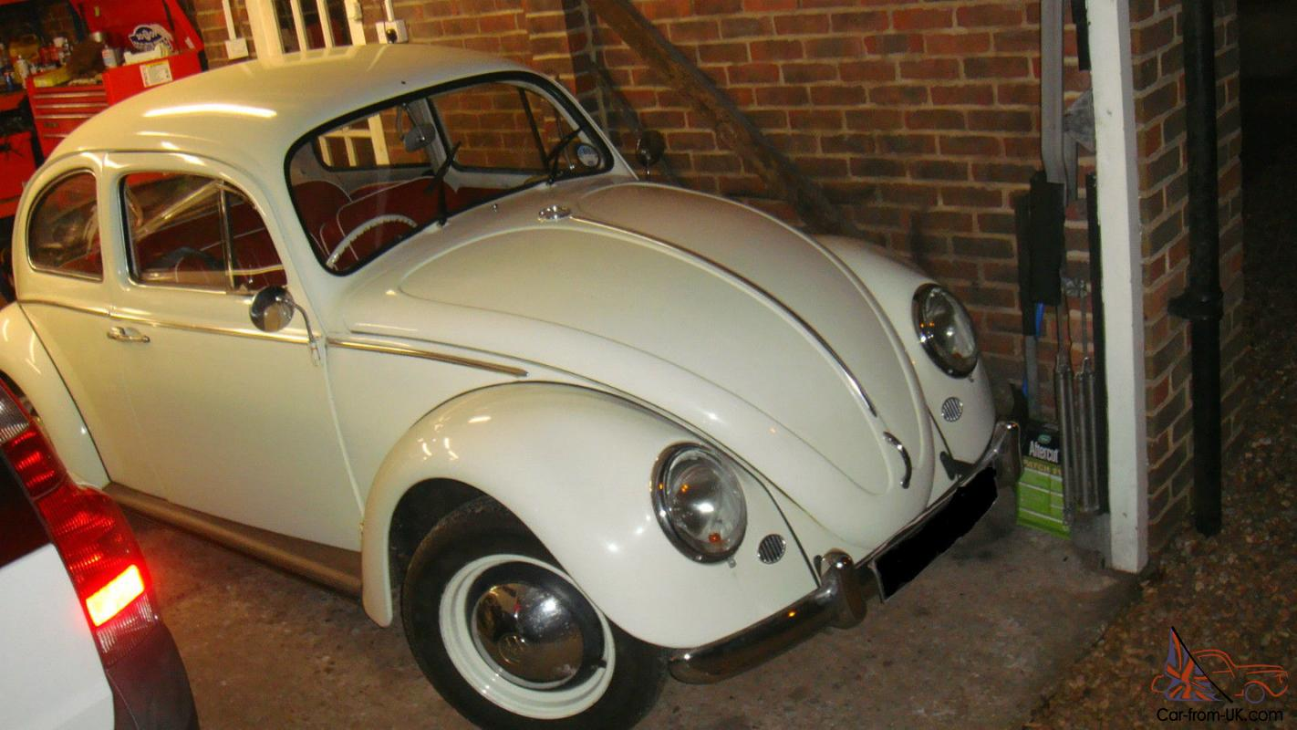 66 Reg Vw Beetle 1300 New Mot Tax White With Red Interior Very Pretty Bug