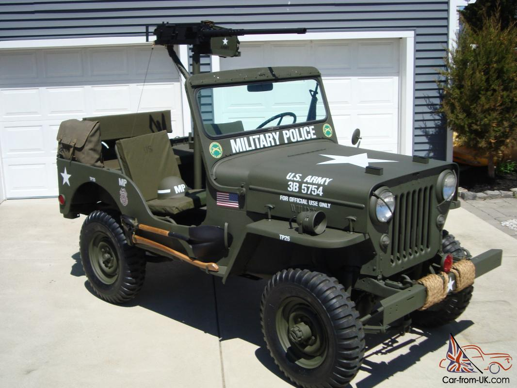 Willys 1960 Cj3b Army M606 Style Vietnam Military Type Highhood Jeep
