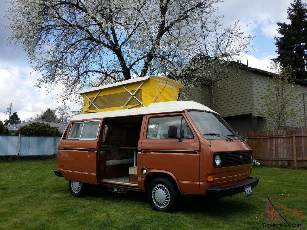 1980 VW Westfalia/RV Pop Top Camper Van Only 40k Miles