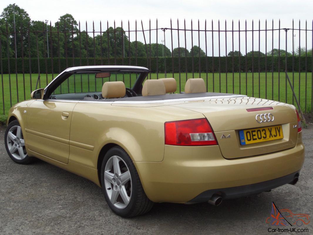 Audi A4 Cabriolet Sport 2.4 2003/03 2Door Convertible*SERVICE HISTORY*ELEC ROOF*