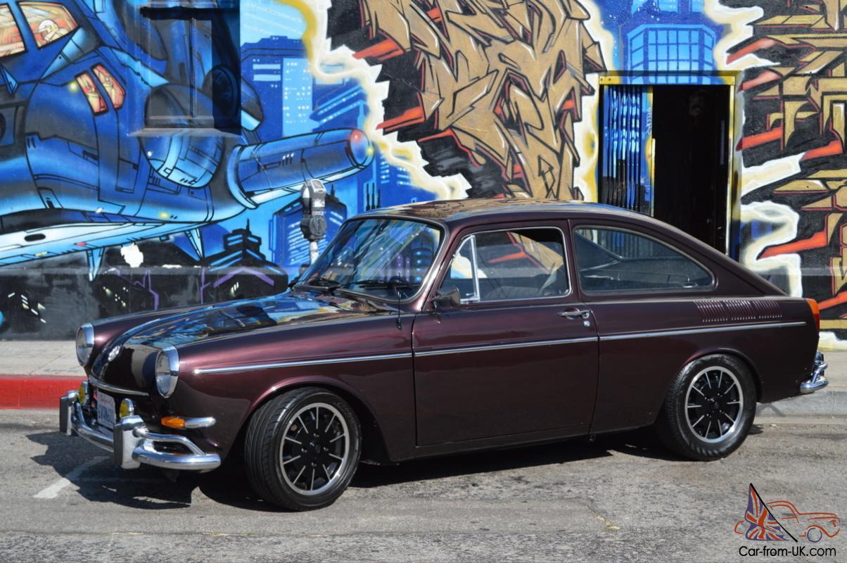 1967 VW Type III Fastback, Burgundy Metallic, Fully Restored with upgrades