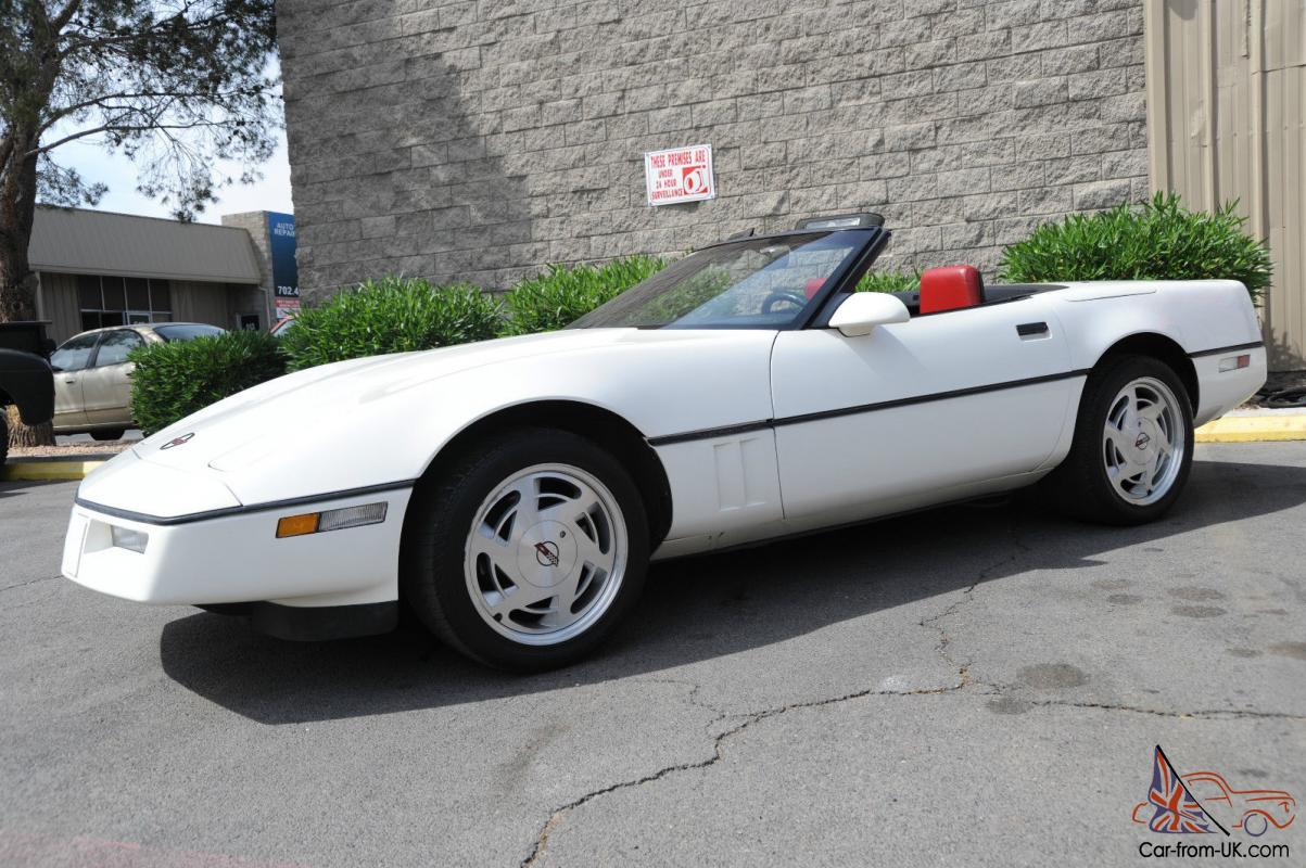 Nicest 1988 Corvette Convertible Only 58 000 Original Miles White With Red