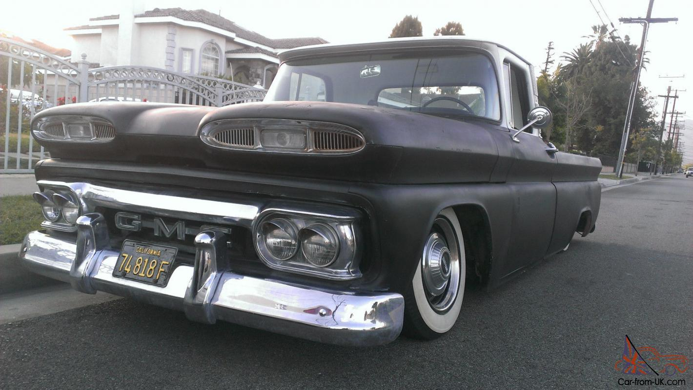 Pickup 61 chevy pickup : GMC TRUCK RAT ROD BAGGED AIR BAGS 1960 1961 1962 1963 1964 1965 ...