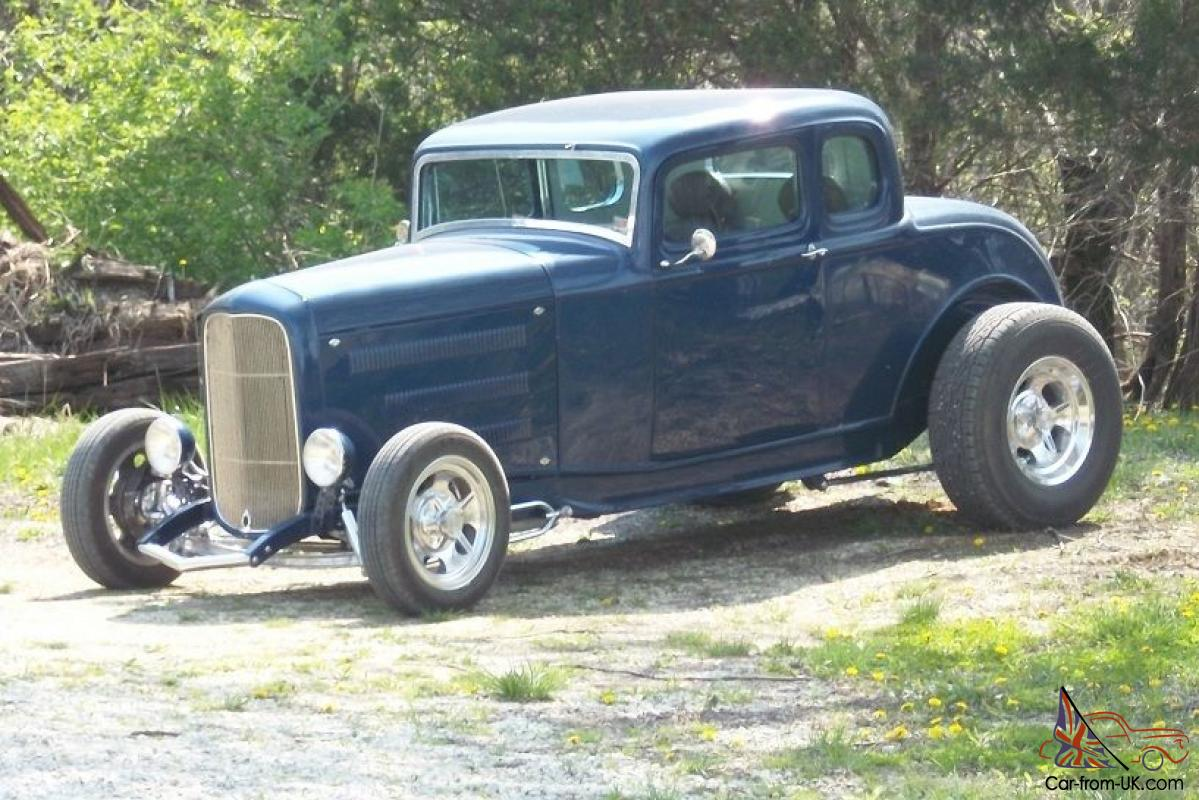 1932 FORD 5 WINDOW COUPE, CHEVY LS1 W/DUAL QUADS, 4 SPEED, A/C HEAT, DEFROST