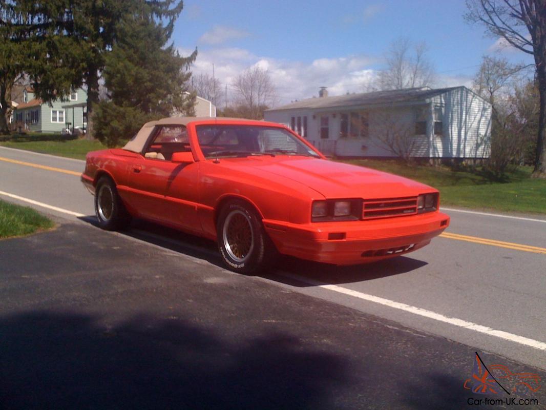 Mercury Capri Asc Mclaren Mustang Ford Convertible