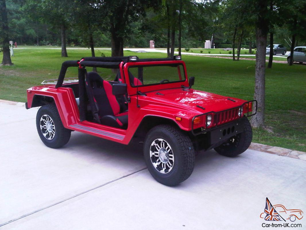 Hummbug, Hummer, Convertible, Kit Car, Red, Wombat, Dune Buggy