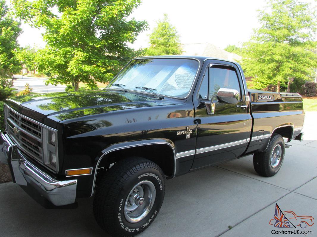 1986 Chevrolet Silverado C-10, 4wd,black w/ red interior ...