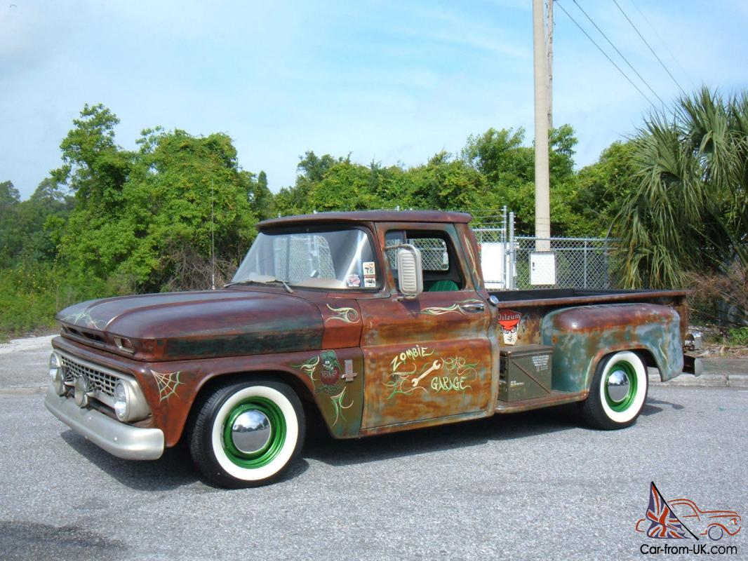Truck 1963 chevy truck parts : Chevrolet C-10 Rat Rod Pickup,5 Spd,230 6Cyl, 3 Carbs,Fresh Build ...