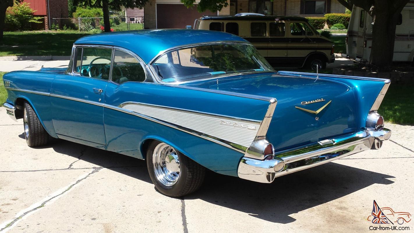 All Chevy 1957 chevy belair 4 door : chevy 2 door hardtop no post very nice driver