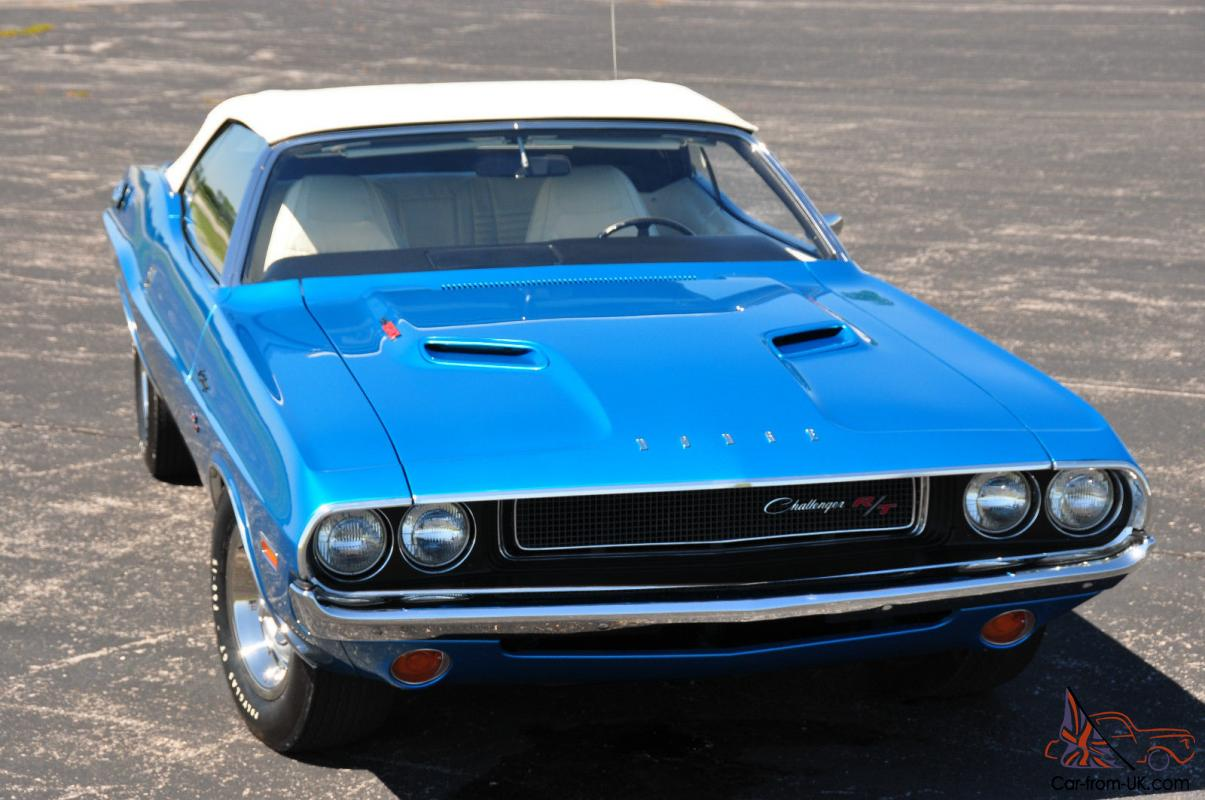 1970 Dodge Challenger R T 440 Six Pack Convertible 4 Speed
