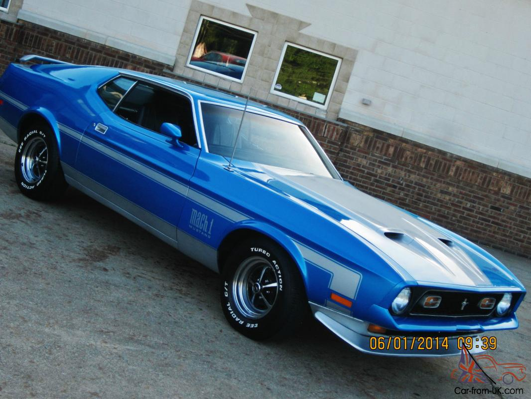 1972 Ford Mustang Mach 1 Ram Air 351cj Fastback Rust Free Nice 100 Pics