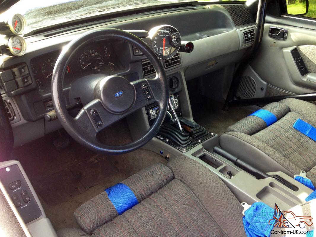 Ford Mustang Notchback Foxbody Drag Race Car Street Strip Pro Street Badass