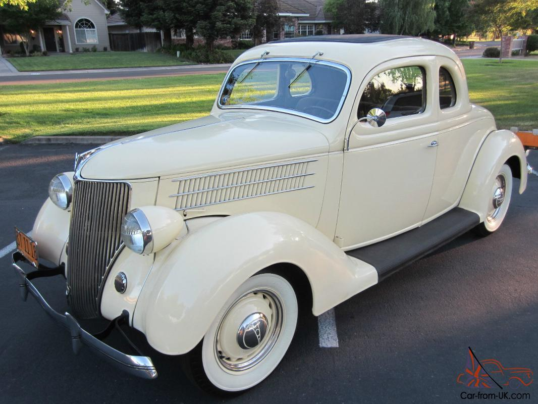 1936 Ford Five Window Business Coupe Excellent Museum Quality Restoration