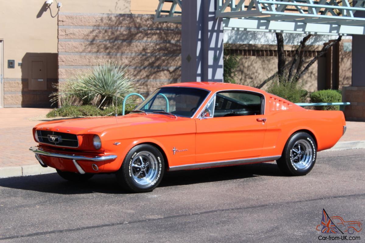 1965 Ford Mustang Fastback Poppy Red Rebuilt Motor 4bbl 289 V8 4spd Disc  Brake