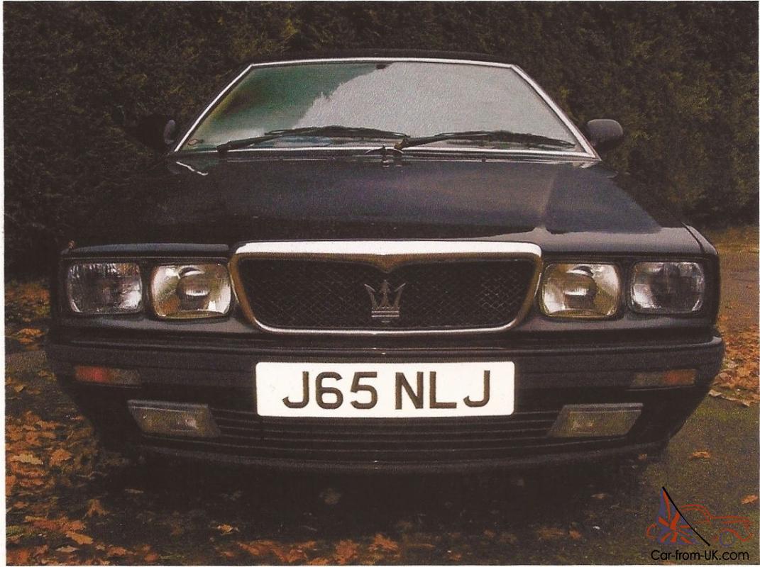 1991 MASERATI SPYDER iE AUTO BLACK