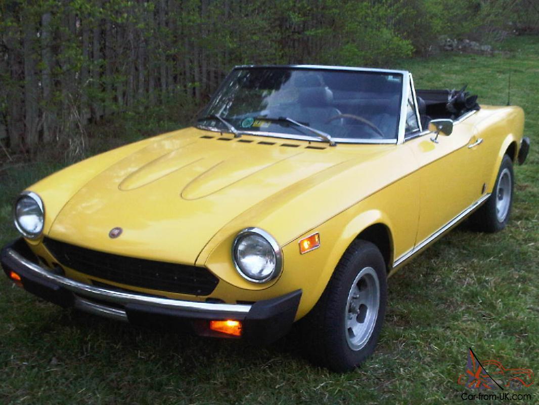 1978 Fiat 124 Spider Convertible 2 Door 1 8l For Sale