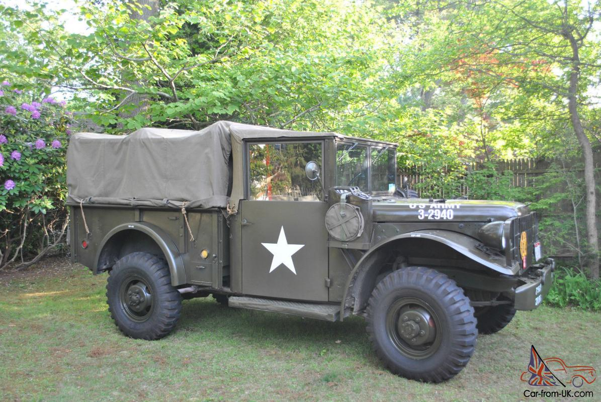 Military Vehicles For Sale >> Dodge M 37 Military Vehicle 3 4 Ton 1951