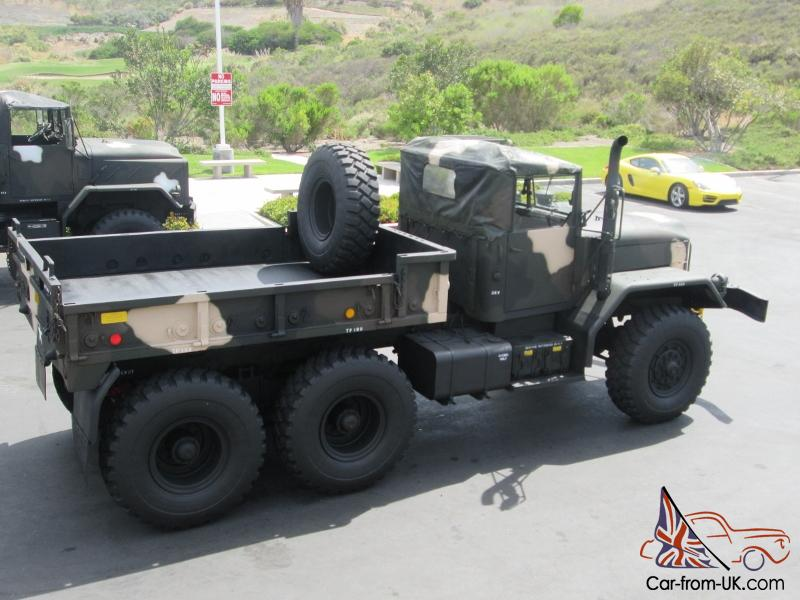 Restored M818 Military 5 Ton Shorty 6x6 Drop Side Cargo Bed Monster Truck  Diesel