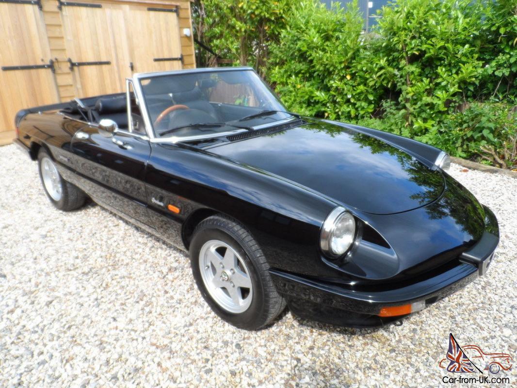 1990 Alfa Spider S3 Cabrio Rhd 1945cc Black Black Int Beautifully Refurbished