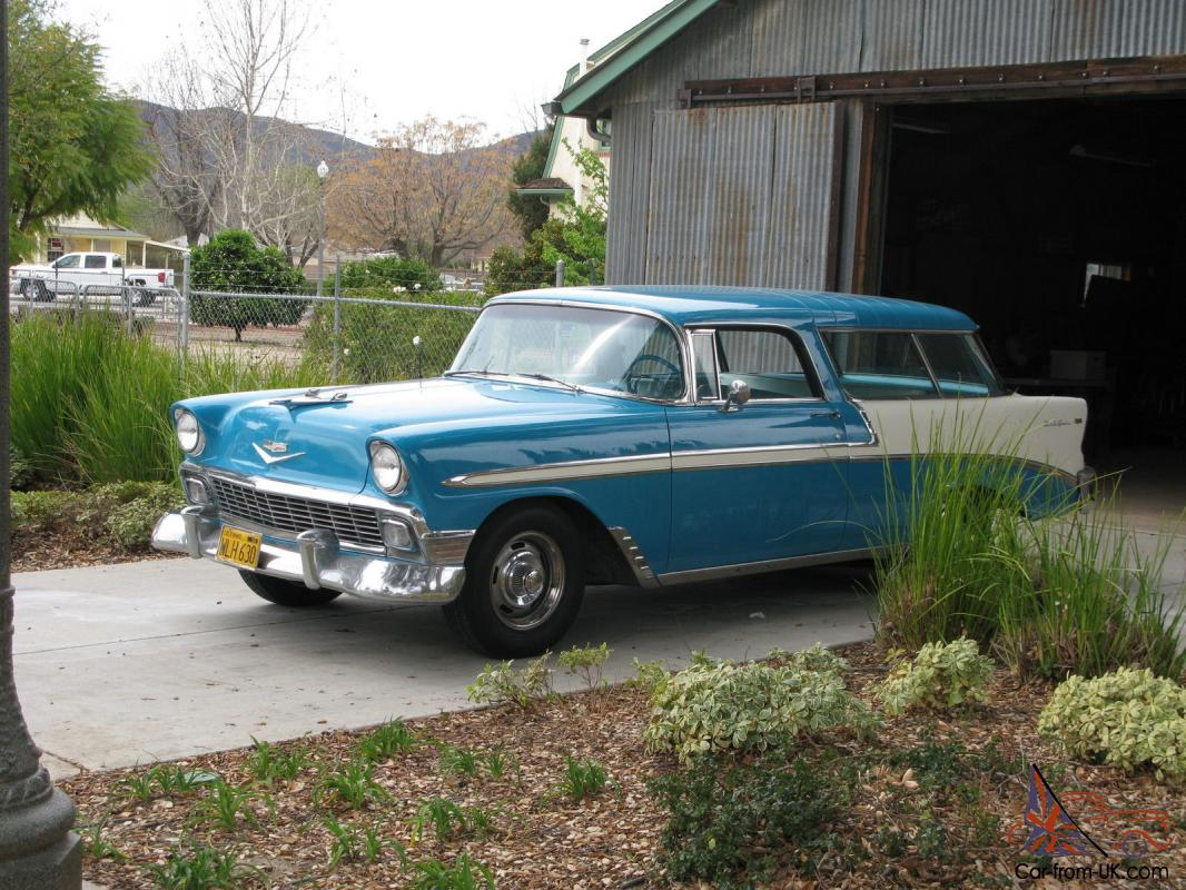 All Chevy 1956 chevy nomad for sale : Chevy Nomad original unrestored SCTA barn rare 265 California ...
