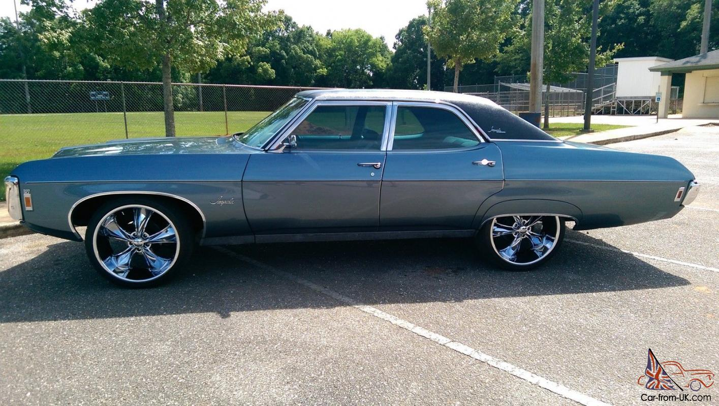 All Chevy chevy classic cars : classic,impala,belair,blue,four door,chevrolet,old cars,1969 ...