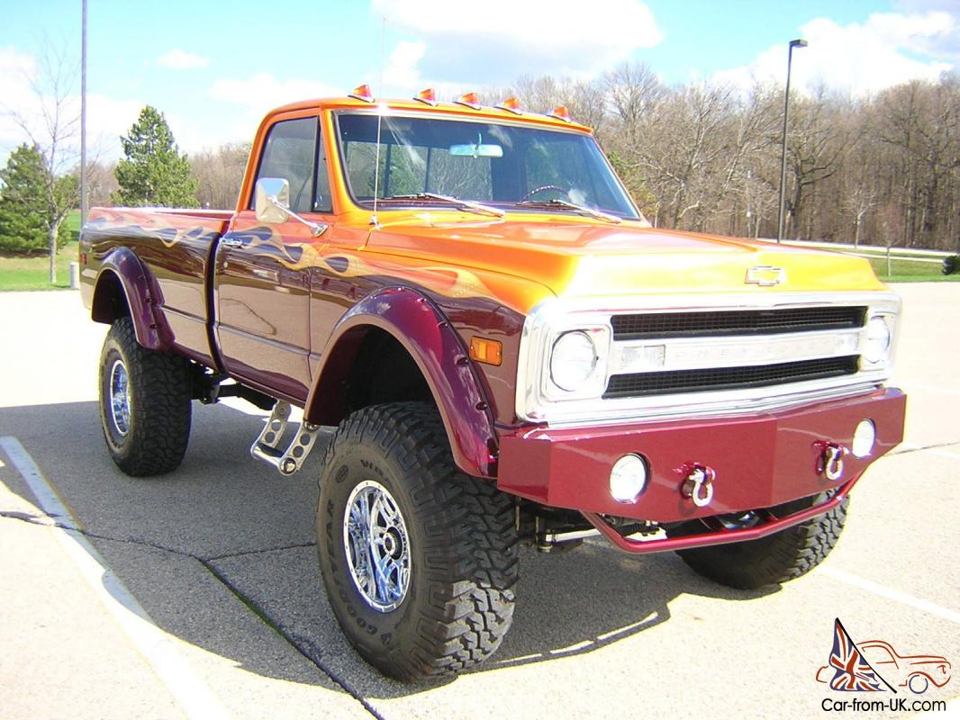 Chevy C10 Custom Frame Off Restored Lifted Show Truck 468 BBC 40 ...