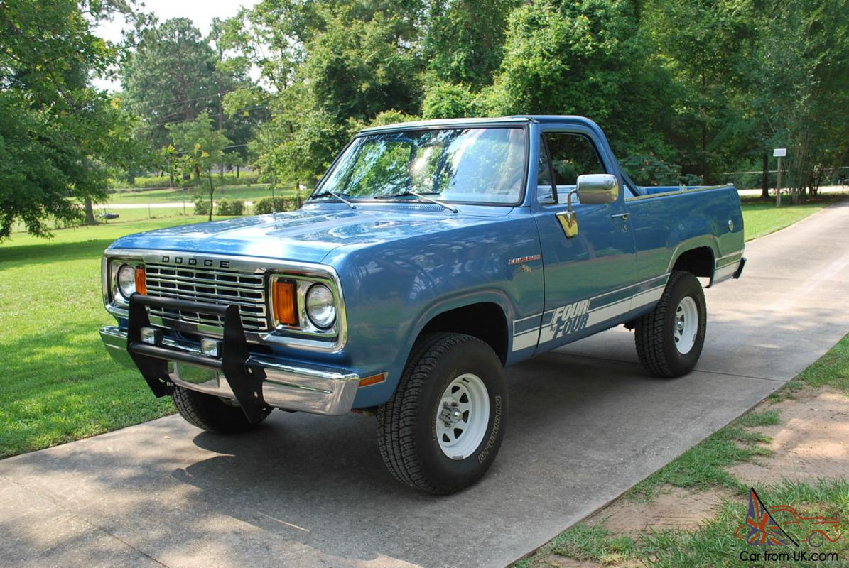 1978 Dodge Ramcharger Convertible Macho Blue Nos Factory White Soft Top Nice