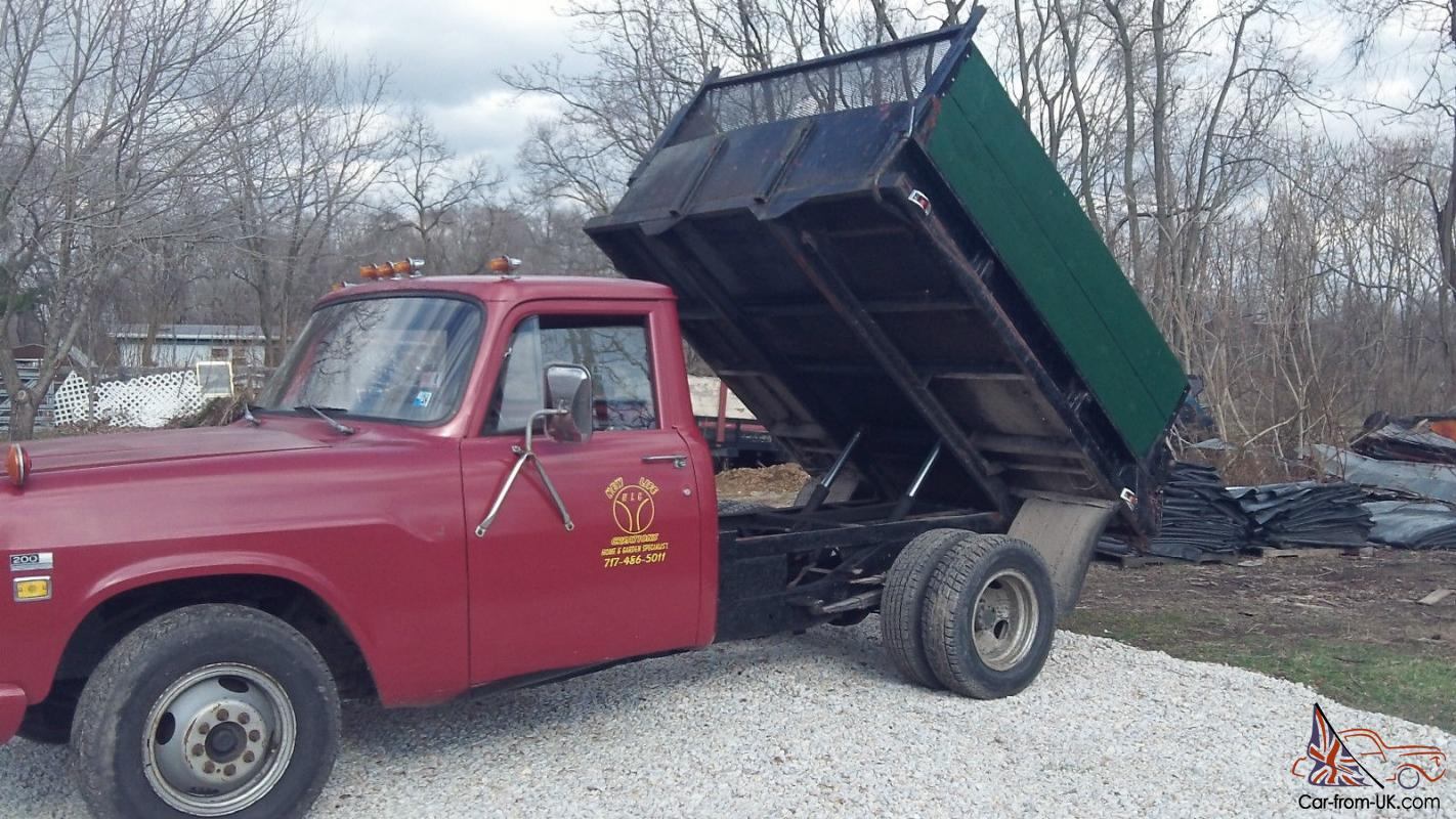 1975 International Dump Truck Red With Black Dump Bed Good Solid Truck