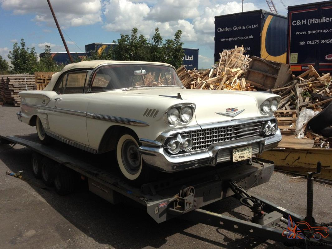 Chevrolet Impala convertible, 283, auto, connie kit, p/steering p/top