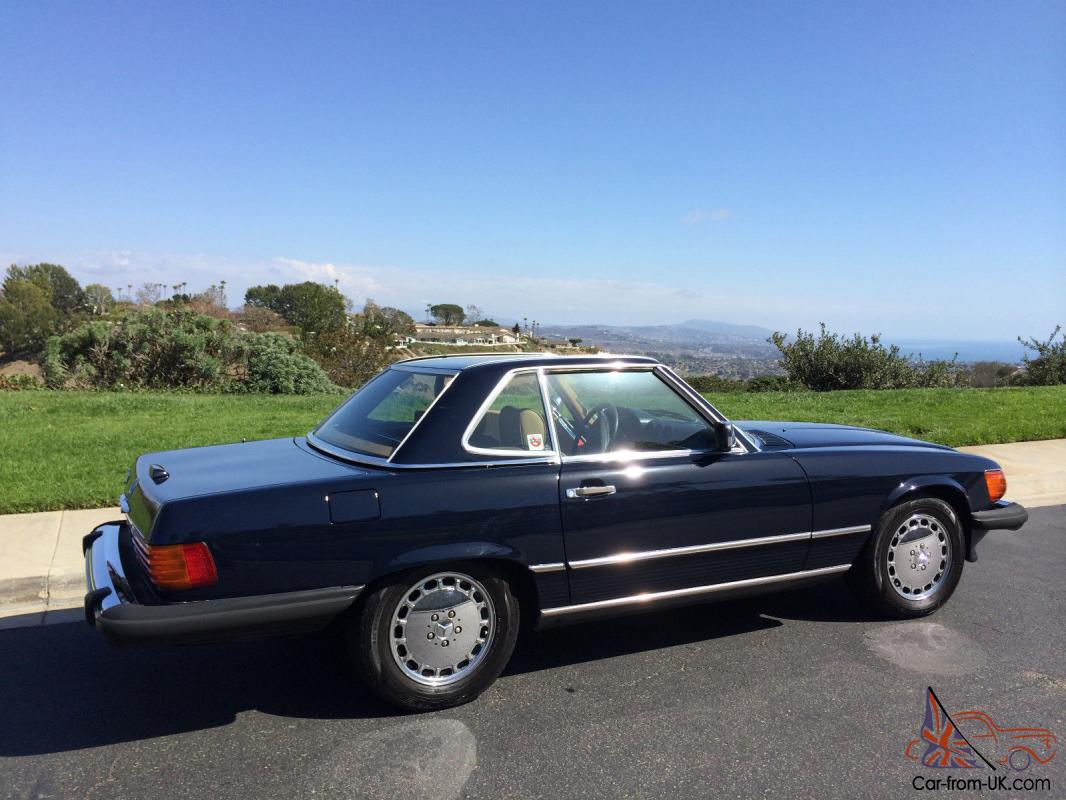 1989 560sl Navy Blue New Paint Convertible Top Chrome Wheels Mercedes Benz