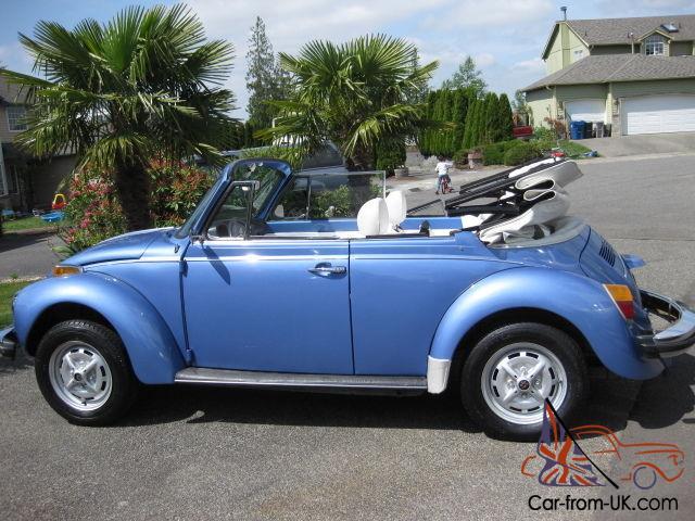 1979 Vw Super Beetle Convertible 59 000 Orig    8500  Buys